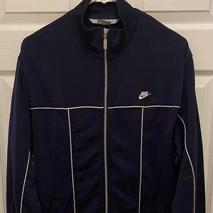 Vintage Nike Mens Blue Athletic Zip Up Sweater